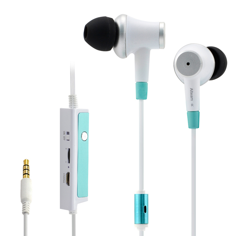 Wired Hands-free 3.5mm Stereo In-Ear Active Noise Cancelling Noise Cancellation Earphones Ear Phones with Mic for Mobile Phone original awei es q3 headset noise isolation bests sound in ear style hifi earphones for phone mp3 mp4 players 3 5mm jack