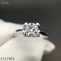 KJJEAXCMY fine jewelry 925 sterling silver mosan diamond ring for ladies With the certificate