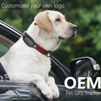 waterproof dog pet collar key chain GPS Tracker GPS AGPS LBS Loaction Pets Cats mini pet tracking On google Map Free App
