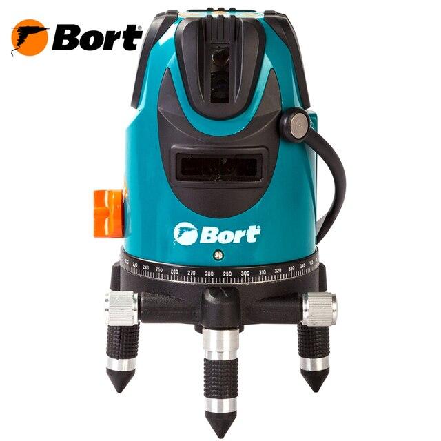 Лазерный уровень Bort BLN-15-K (Рабочая зона 15 метров, звуковое оповещение, батарейки в комплекте, Кейс, очки)