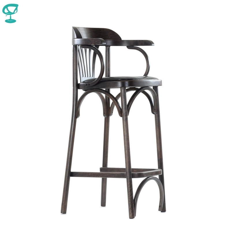 2127 Barneo Viennese Wooden Bar Soft Seat Dinner Chair Interior Stool Chair Kitchen Furniture Wenge Free Shipping In Russia
