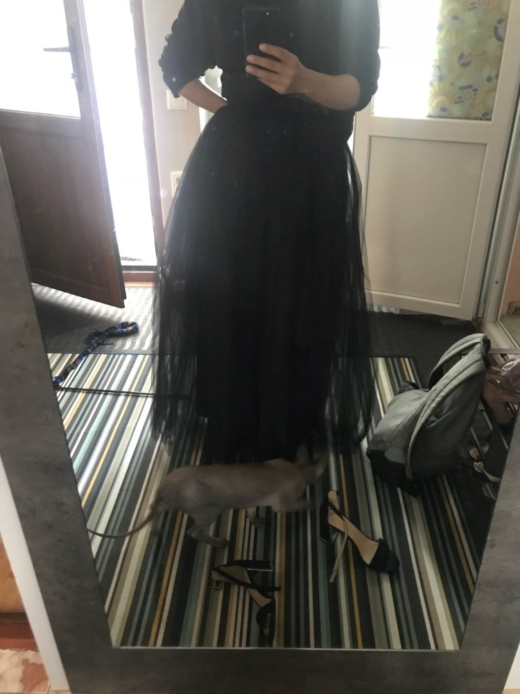 5 Layers Long Tutu Skirts Summer Fashion Womens Princess Fairy Style Voile Tulle Skirt Bouffant Puffy Fashion Skirt photo review
