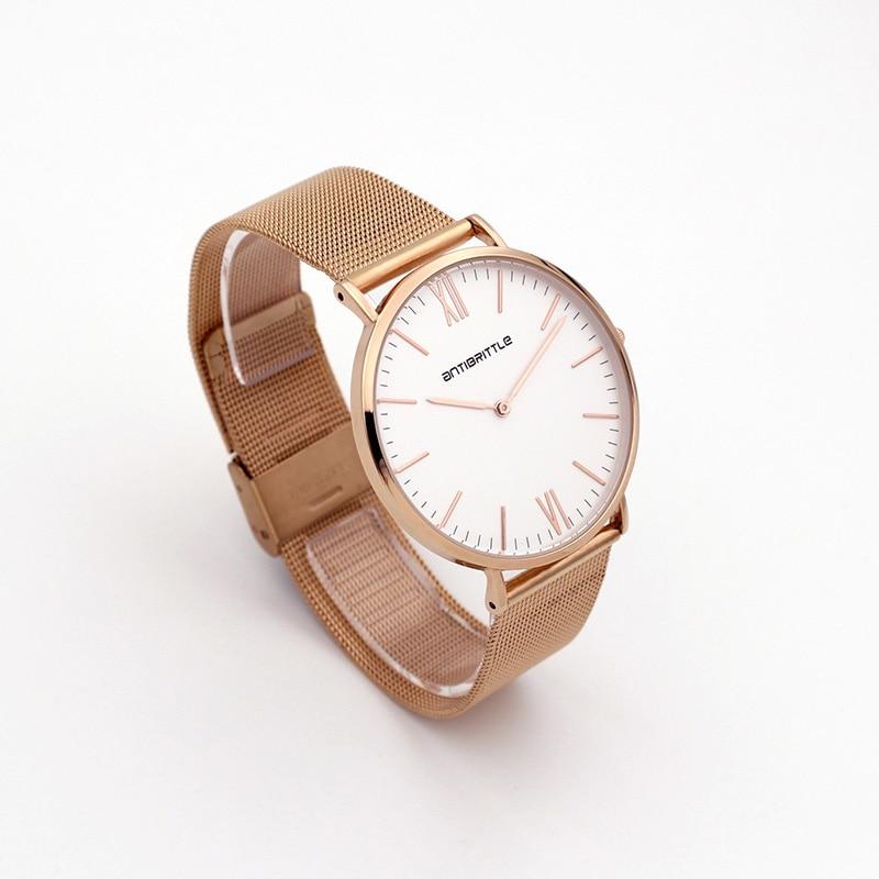 Люкс Brand Quartz Women Mesh Watches Men Жіңішке - Әйелдер сағаттары - фото 6