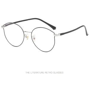 Image 4 - Nuovo di plastica gamba in acciaio versione Coreana del telaio occhiali di tendenza retrò in metallo di vetro del telaio Uomini e donne scarpe basse decorativi specchio.