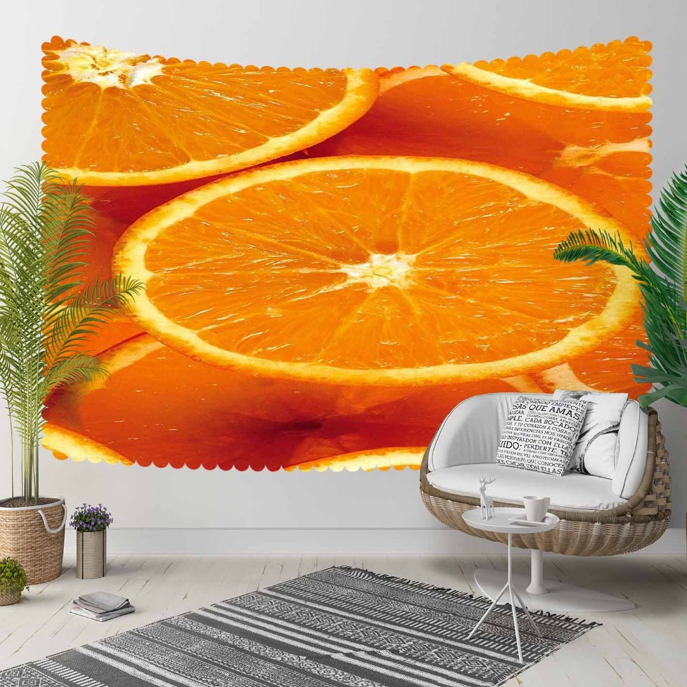 Else Fruits Slice Of Oranges 3D Print Decorative Hippi Bohemian Wall Hanging Landscape Tapestry Wall Art