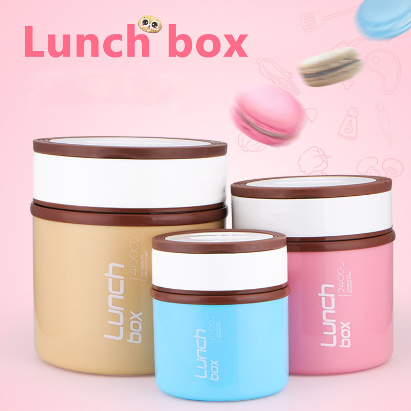 1200ml Thermal Bento Lunch Box Thermos For Food Stainless <font><b>Steel</b></font> Insulation Storage Food Container Dinnerware Sets Christmas Gift