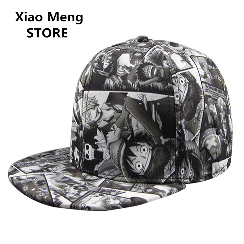 Anime One Piece Baseball Cap Sanji Hat For Men Women Monkey D Luffy Hip Hop Snapback Caps Bones Trafalgar D Water Law Hats M48 cntang brand summer lace hat cotton baseball cap for women breathable mesh girls snapback hip hop fashion female caps adjustable