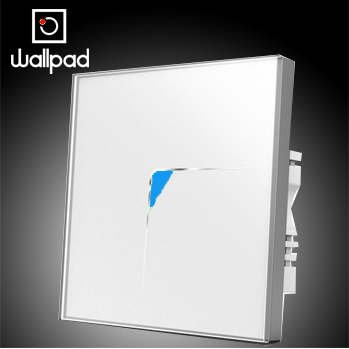 Hot Selling Wallpad Led 1 Gang 1 Way Wall Touch Switch, White Crystal Glass Panel Wall Light Touch Light Switch,Free Shipping 10a universal socket and 3 gang 1 way switch wallpad 146 86mm white crystal glass 3 push button switch and socket free shipping