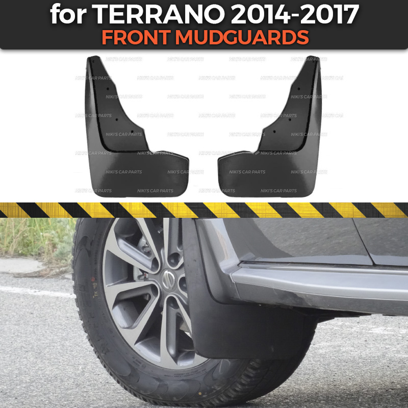 Mudguards For Nissan Terrano 2014-2019 On Front Wheels Trim Accessories Mud Flaps Broad Splash Guards Mud Car Styling