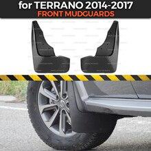 Garde boues pour Nissan Terrano 2014 2019, accessoire, garniture pour roues avant, pare boue, décoration de voiture, garde boue