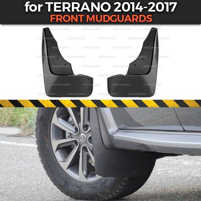 Parafanghi per Nissan Terrano 2014 2019 su ruote anteriori assetto accessori mud flaps larghe paraspruzzi mud car styling