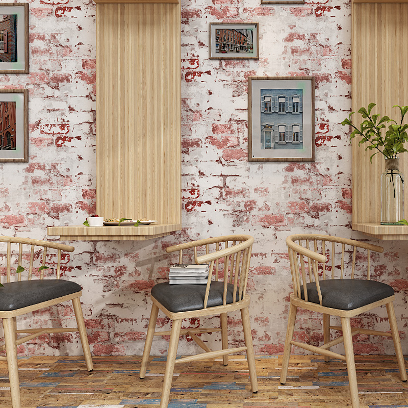 New Arrival Blue Gray Red Brick Wallpaper Self Adhesive PVC Wallpapers Rolls Vintage 3d Bricks Coffee Shop Wall Papers QZ027