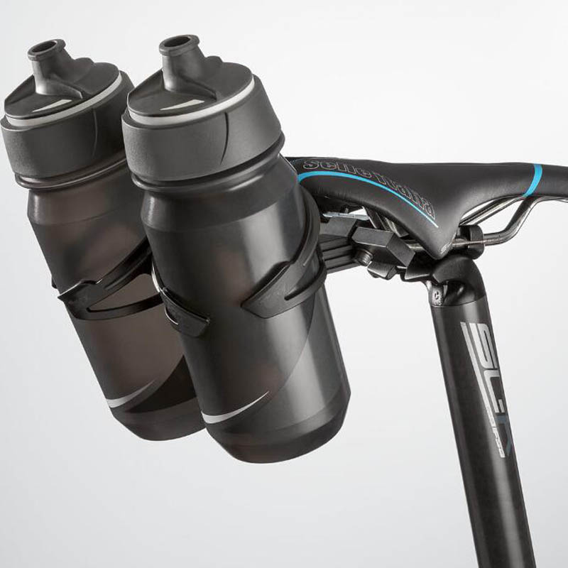 VAUN VB4 Triathlon Bicycle Water Bottle Cage System Triathlon Rear Dual Alloy Black Kettle Kettle Holder Bicycle Saddle Clamp