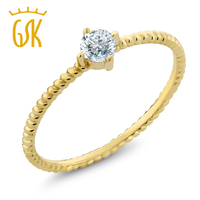 0 15 Ct Round Diamond 10K Yellow Gold Engagement Solitaire Ring