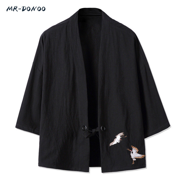 MRDONOO Kimono estilo chino retro de los hombres chaqueta de Rebeca ...