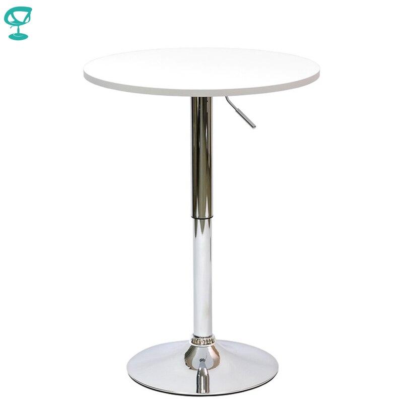 94919 Barneo T-2 MDF haut petit déjeuner Table intérieure Bar Table meubles de cuisine Table à manger blanc livraison gratuite en russie