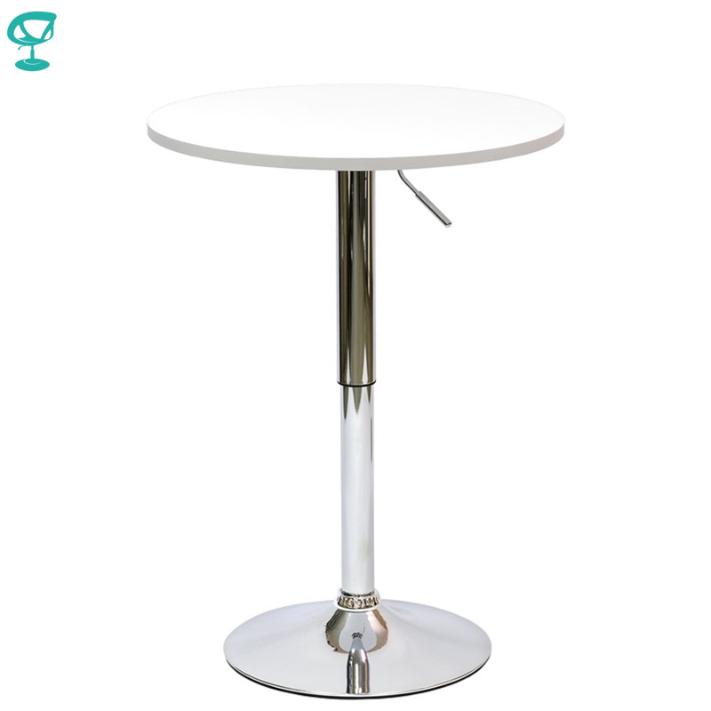 94919 Barneo T-2 MDF High Breakfast Interior Table Bar Table Kitchen Furniture Dining Table White Free Shipping In Russia