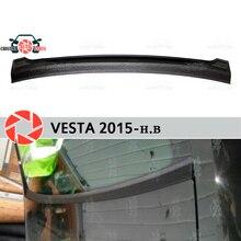 Для Lada Vesta 2015-jabot под задним окном пластик ABS Защитная облицовочная панель защита автомобиля аксессуары для автомобиля Стайлинг