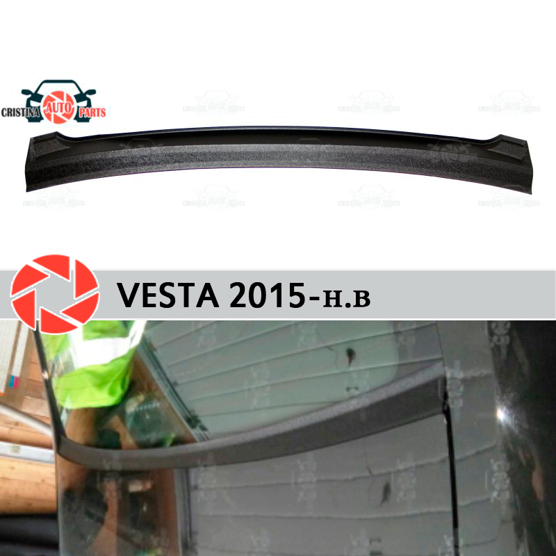 Для Lada Vesta 2015 jabot под заднее окно пластик ABS Защитная Накладка аксессуары для автомобиля Стайлинг автомобиля|Хромирование|   | АлиЭкспресс