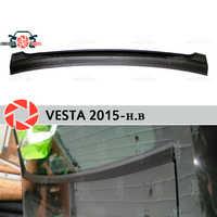 Pour Lada Vesta 2015-jabot sous fenêtre arrière en plastique ABS plaque de protection couvercle garniture garde voiture accessoires voiture style