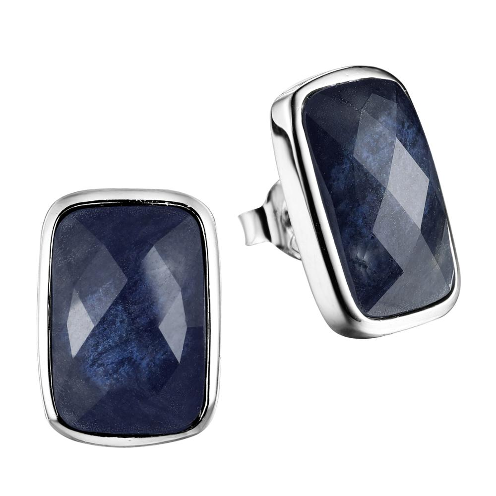 DORMITH real 925 sterling silver earrings gemstone luxury natural blue sapphire drop earrings for women fine jewelry earringsDORMITH real 925 sterling silver earrings gemstone luxury natural blue sapphire drop earrings for women fine jewelry earrings