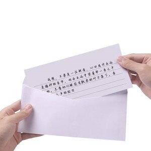 Image 5 - Free shipping 100pcs / lot white envelope simple clean blank envelope simple decorative wedding invitation envelope