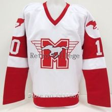 0655187f35f Youngblood Hockey Jersey #10 Rob Lowe Mustangs Ice Hockey Sewn White Red #9  sutton