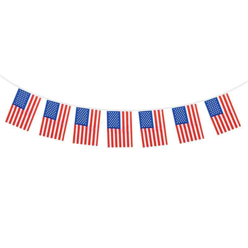 8.5M Patriotic American Flag Banner Printed Stars and Stripes 32 USA Flag Banner for Home Garden D5