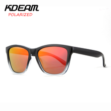 KDEAM Portable Sports Sunglasses Men Polarized Square Sun Glasses Women Mirror lens Frog Classic 4 Colors UV400 With Case KD071