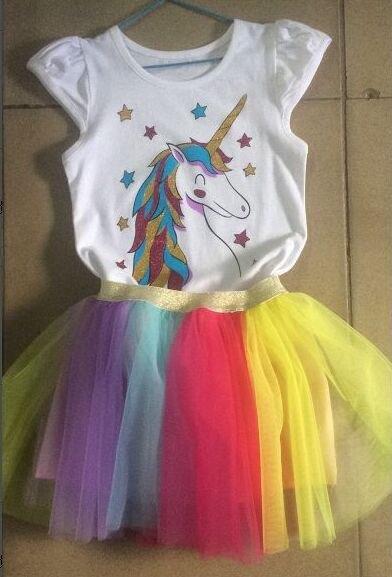 Fancy Star Design Unicorn Dress photo review
