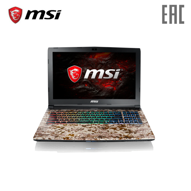 Игровой ноутбук MSI GE62 7RE Camo Squad 2419XRU 15.6 120 Гц/i5-7300HQ/16 ГБ/1 ТБ/1050Ti/DVD/DOS [рюкзак в комплекте]