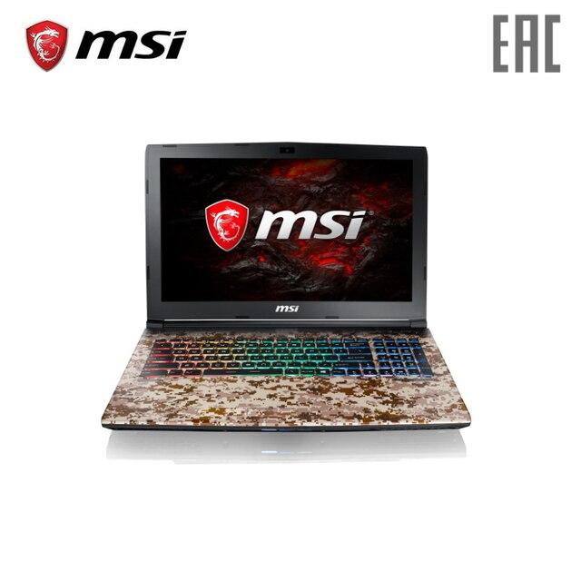 Игровой ноутбук MSI GE62 7RE Camo Squad 2419XRU 15.6/i5-7300HQ/16 ГБ/1 ТБ/1050Ti/DVD/DOS [рюкзак в комплекте]