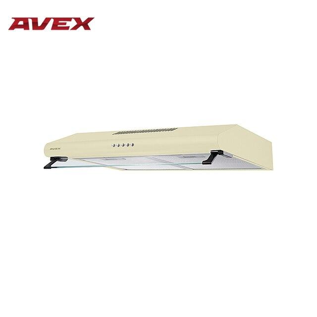 Кухонная вытяжка (воздухоочиститель) AVEX 6022 Y, бежевого цвета, подсветка, 3 скорости, 200 куб/м /час
