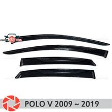 Оконный дефлектор для Volkswagen Polo V 2009-2019 дождь дефлектор грязь Защитная оклейка автомобилей украшения аксессуары Молдинг