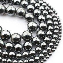Бусины WarBLade из натурального камня, гематит, круглые бусины, 4 мм, 6 мм, 8 мм, 10 мм, 12 мм, для рукоделия, ожерелья, браслетов, ювелирных изделий