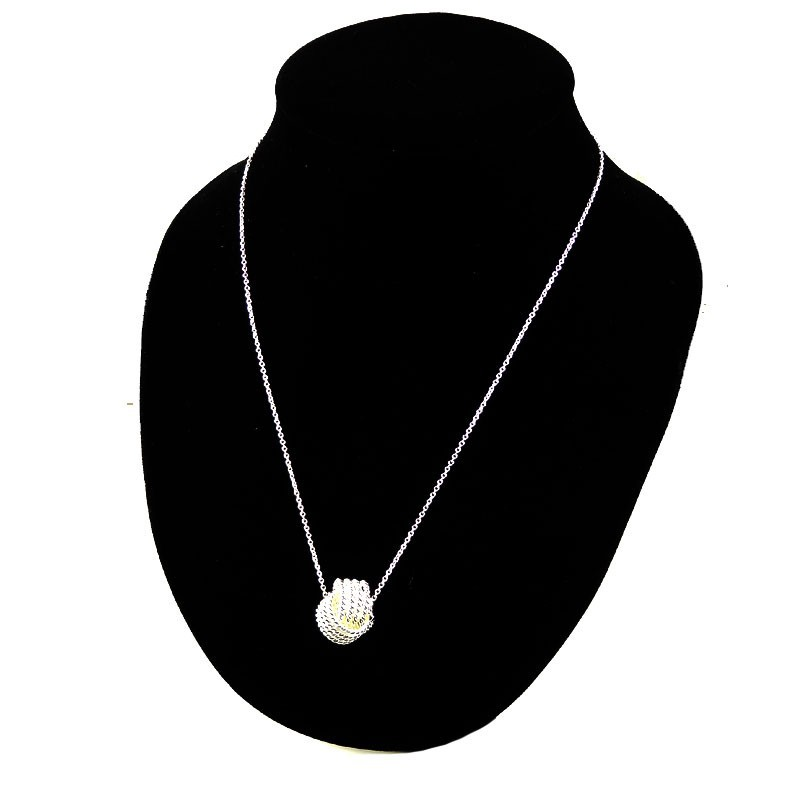 Silver plated necklace for Women Pendant collares silver Ball Slide Fashion Chain necklaces accessories jewerly for girl gift