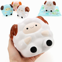 S Quishy Jumbo Sheep 13cm Slow Rising With Packaging Collection Gift Decor Soft Squeeze Toy