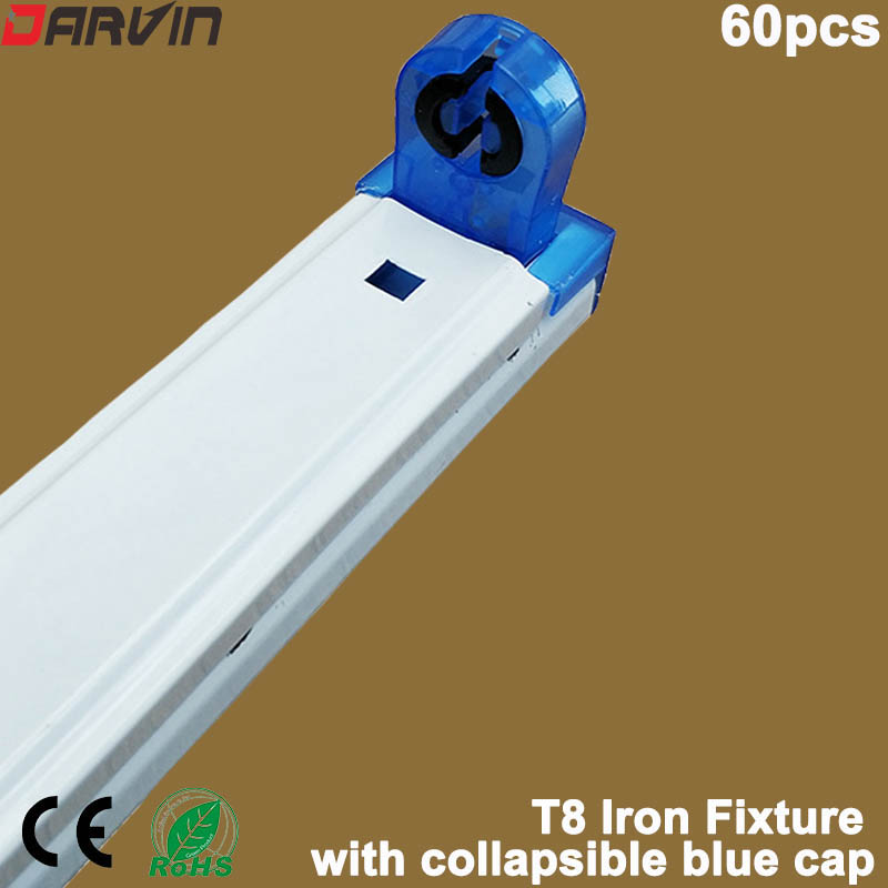 Hot sale 2019 new style. Led <font><b>Tube</b></font> Fixture <font><b>T8</b></font> <font><b>Tube</b></font> Iron Support <font><b>Bracket</b></font> with Blue Collapsible Cap 4ft 1200mm image