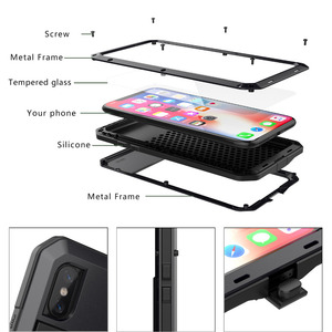 Image 3 - For Samsung  S7 S5 NOTE 4 NOTE 5 Heavy Duty Protection Doom armor Metal Aluminum phone Case Shockproof Dustproof Cover