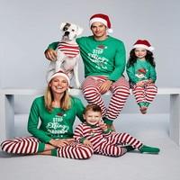 Funny Christmas Elf Gemusterten Familie Passenden Weihnachten Pyjamas für Ganze Familie Nette Vater Sohn Mutter Tochter Weihnachten Pyjamas