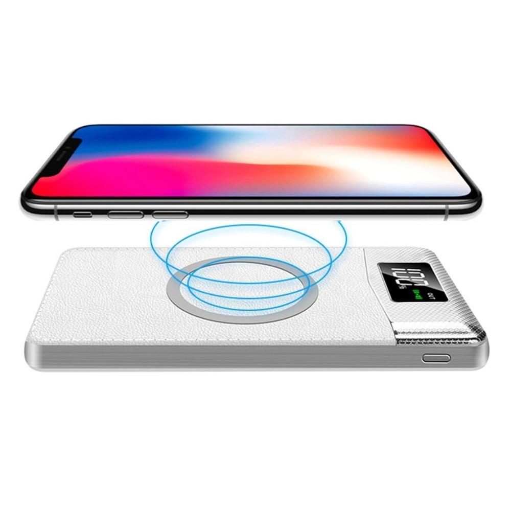 Wireless Fast Charger Power Bank 30000mAh Portable LED Digital Display External Battery Pack Powerbank for iphone X 8 Xiaomi LG usb battery bank charger