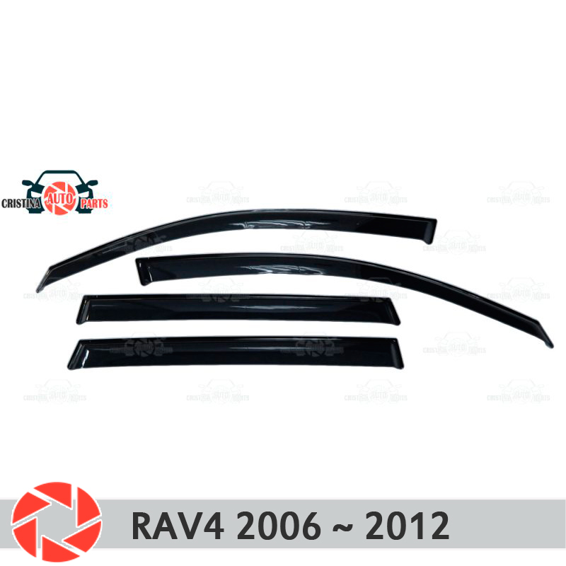 Window deflector for Toyota Rav4 2006~2012 rain deflector dirt protection car styling decoration accessories molding fashionable car decoration car neon lights 15cm blue light