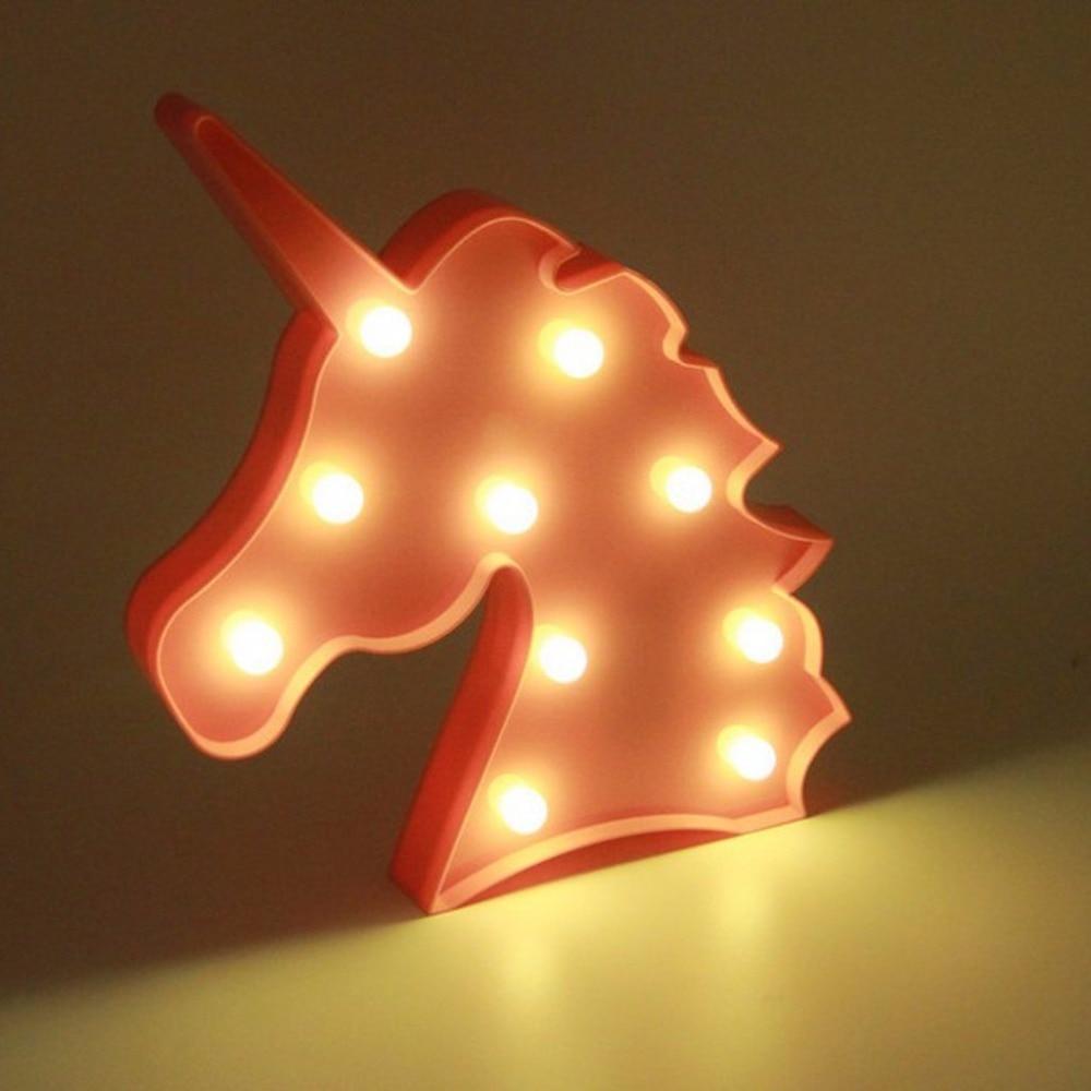 Lampa LED Enhörning (flera färger) – Fyndify