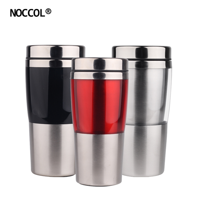 NOCCOL Eco Friendly Stainless Steel Mugs Coffee Cup Drink Flask Water Bottles Fashion Health Car Office Travel Mug Drinkware