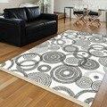 Else белый пол черный круг абстрактные геометрические 3d печать противоскользящие килим моющиеся декоративные области килим ковер богемный к...