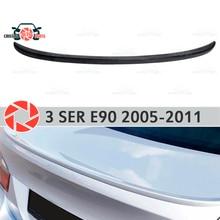 Спойлер для BMW 3 серии E90 2005-2011 пластик ABS Украшения ствол двери аксессуары Защитная оклейка автомобилей литья
