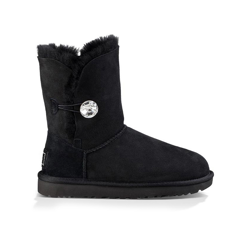 Bailey Button Bling black boot by UGG in Mid Calf Boots from