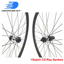 350S 6 Bolts Thru Axle 24mm XC Carbon Mountain Bike wheels Clincher Tubeless 26er 27.5er/650B 29er Hookless 28 Holes UD 3K 12K