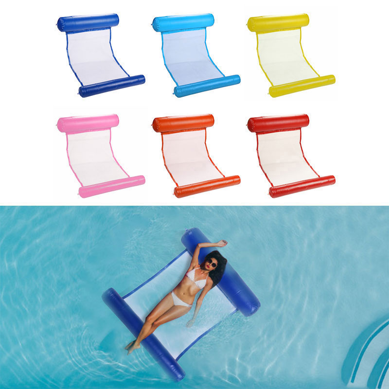 Inflatable Water Hammock Floating Bed Sports Air Mattress Lounge Chair Drifter Swimming Pool Beach F