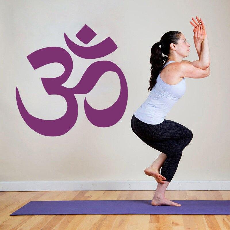 Diplomatic Yoga Logo Wall Decal Buddha Namaste Wall Sticker Removable Mandala Hinduism Ganesha Wall Mural Home Gym Decor Wall Sticker Ay010 Home Decor